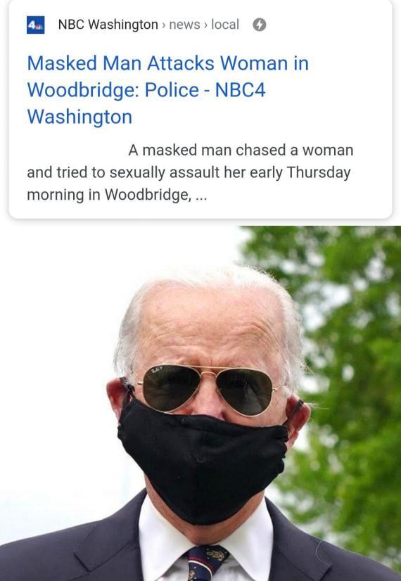 joe biden masked man