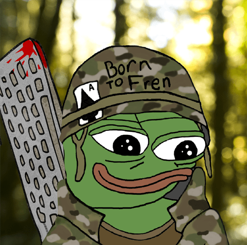 keyboard warrior pepe