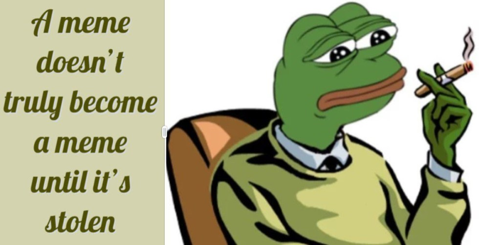 meme theft stolen pepe