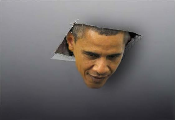 obama through ceiling