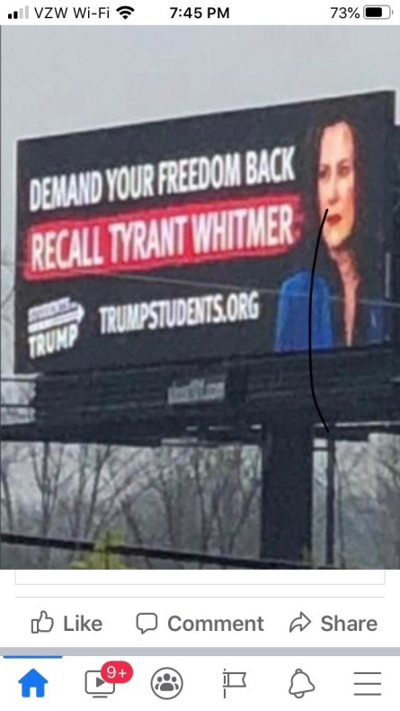 whitmer billboard