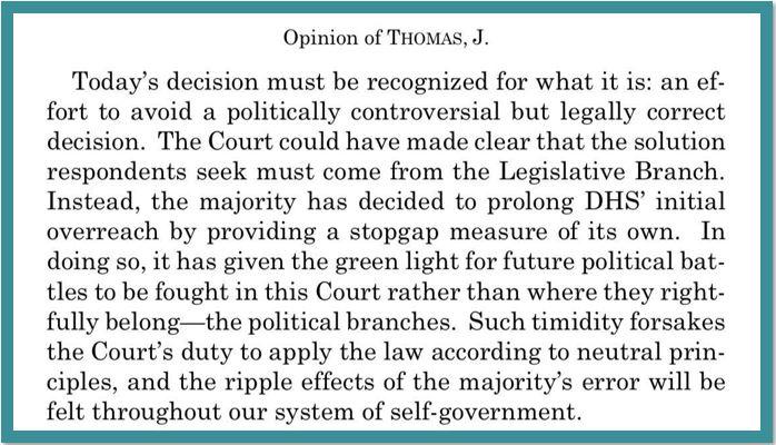 Thomas opinion