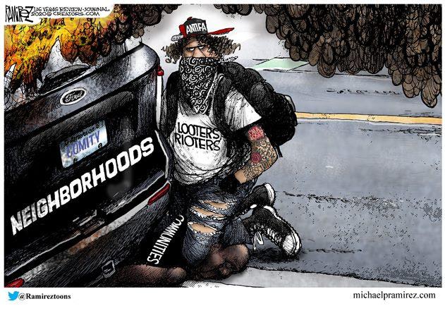 antifa looter