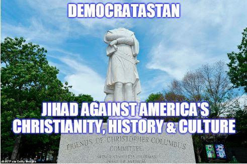 democrat enemy statue