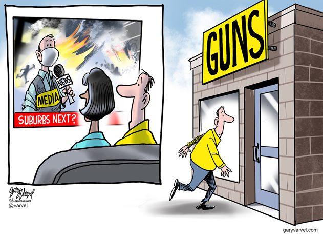 guns suburbs