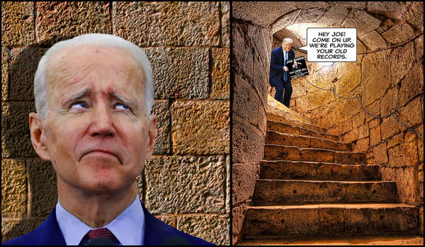joe biden in basement dungeon