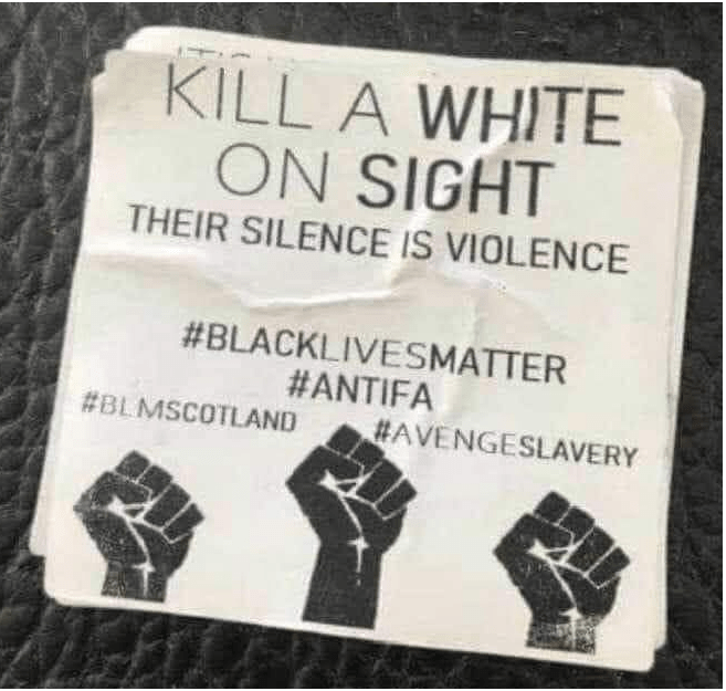 kill a white blm