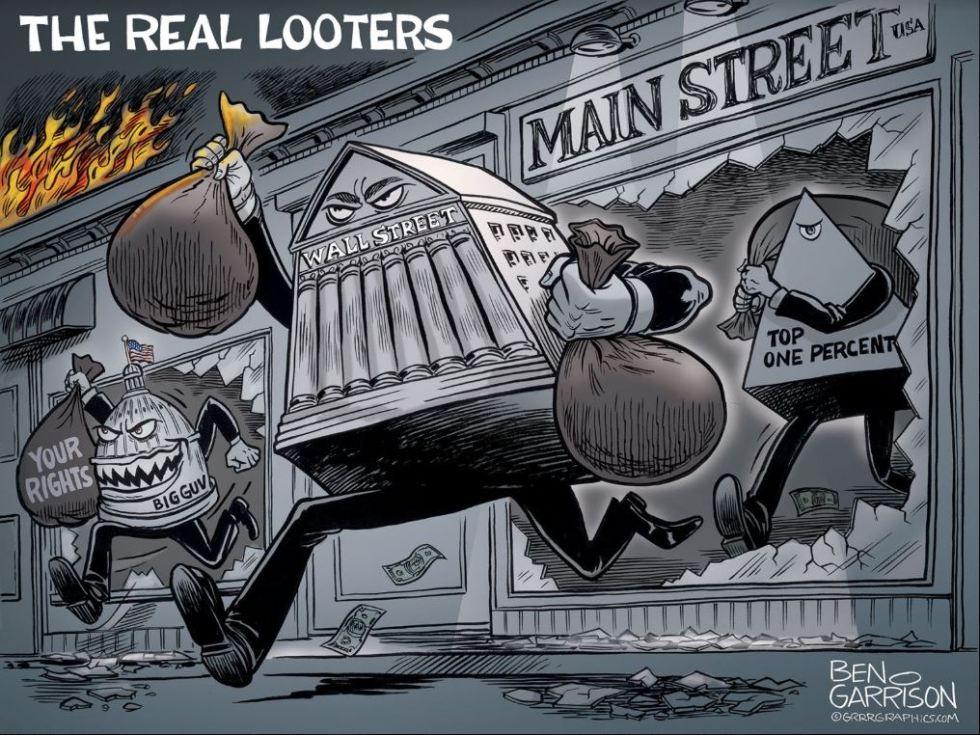 looters wall street bankers garrison