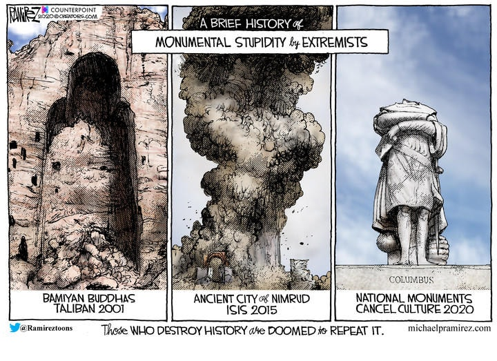 monuments destroy history