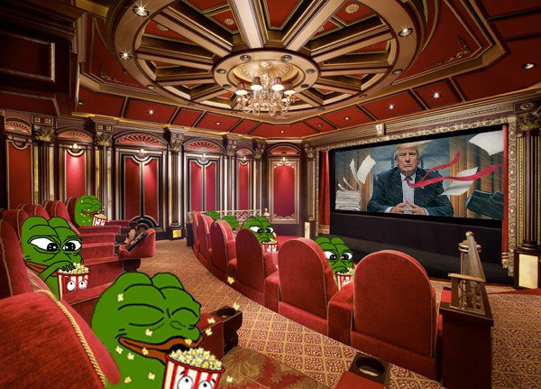 popcorn trump show