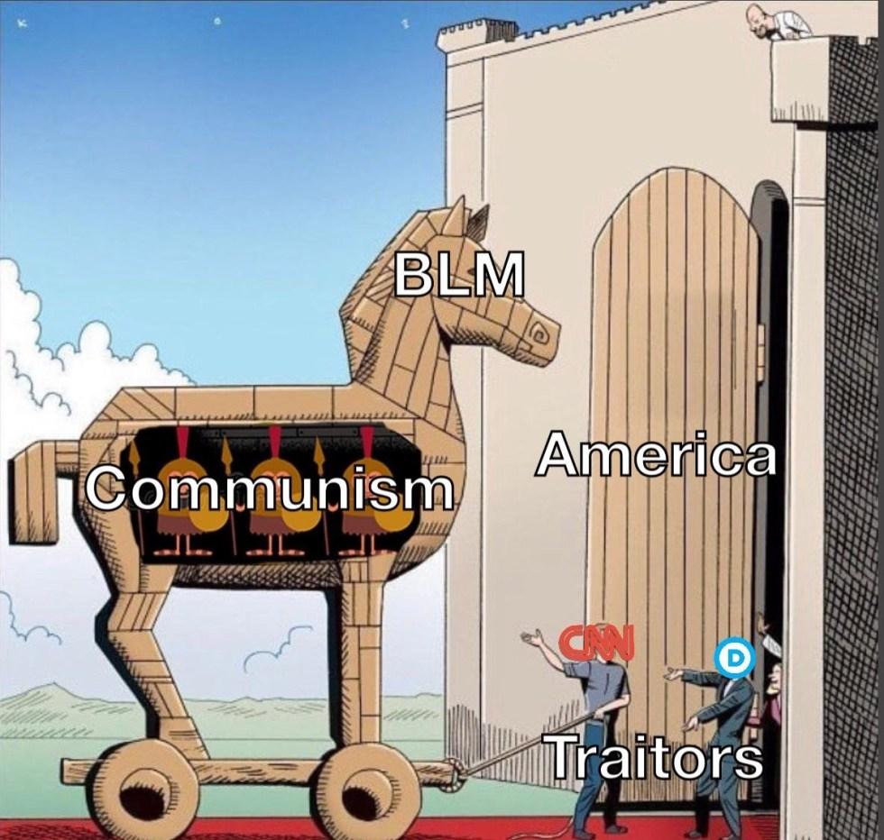 trojan horse communism blm
