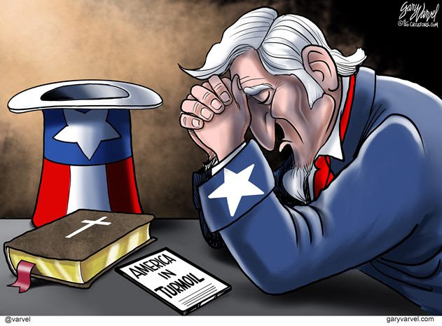 uncle sam america prays