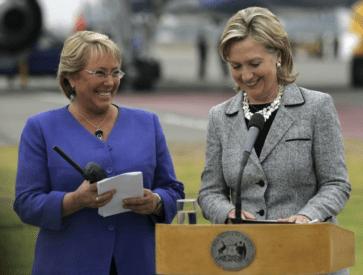 Bachelet+Hillary