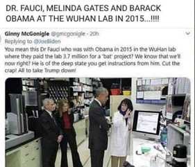 Fauci,Mel Bill Gate Obama Wuhan