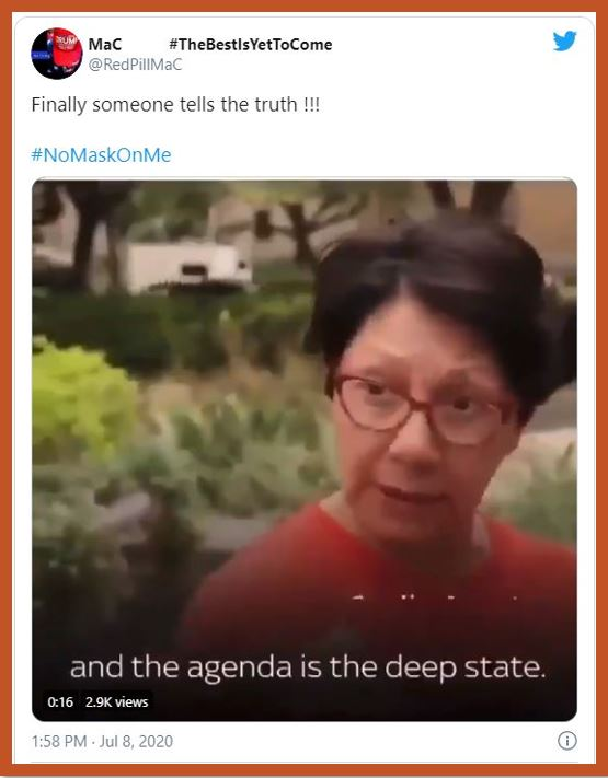 agenda deep state face mask