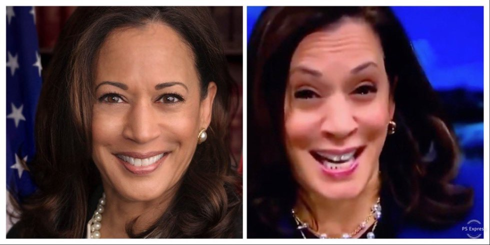 kamala harris before after