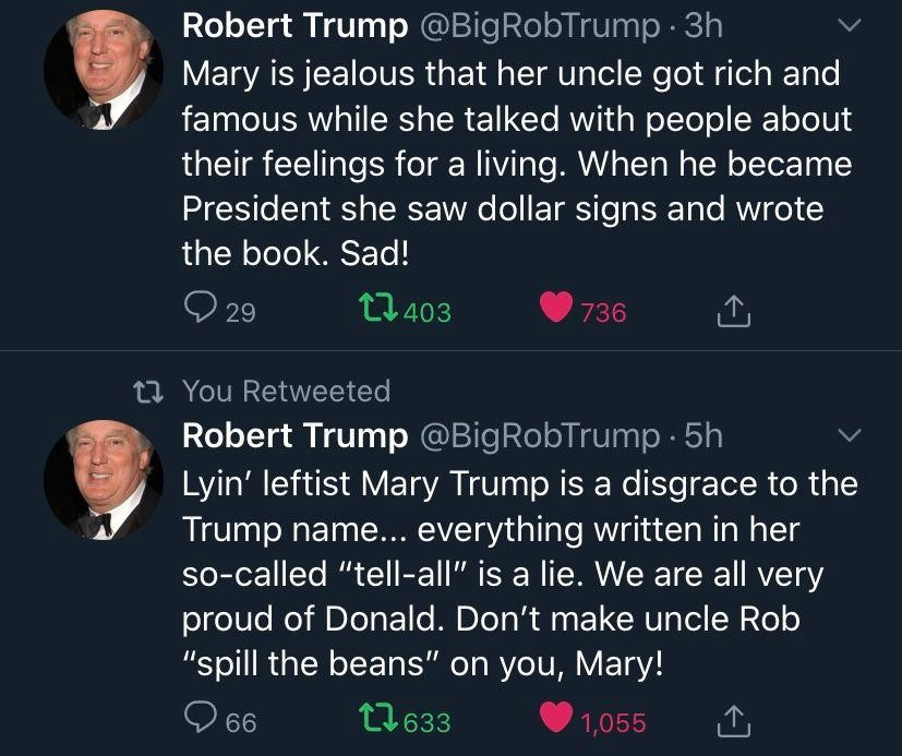 robert trump mary