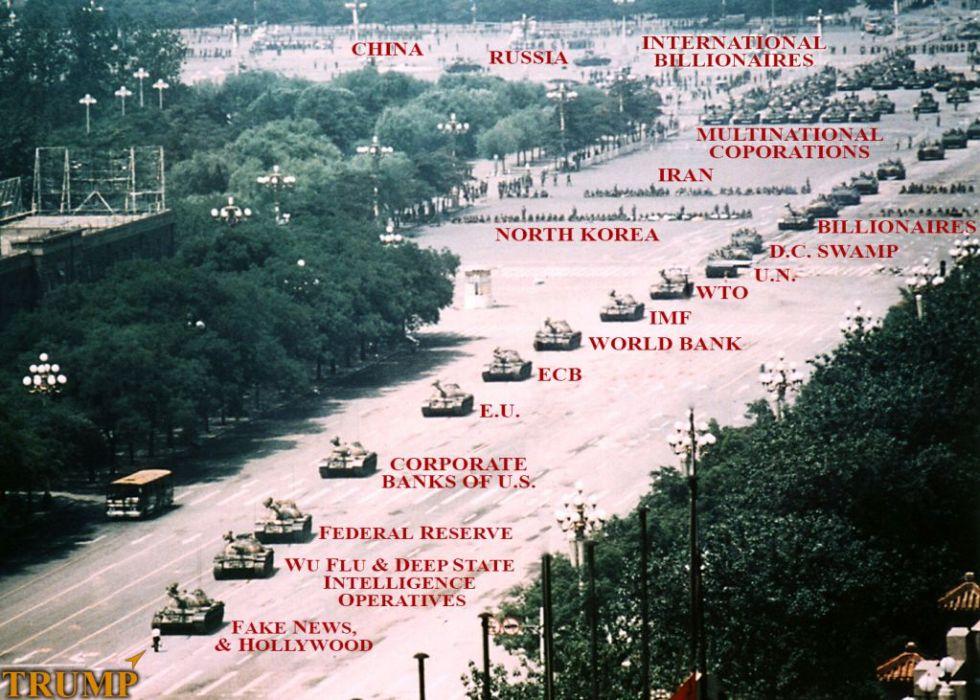 trump war tanks