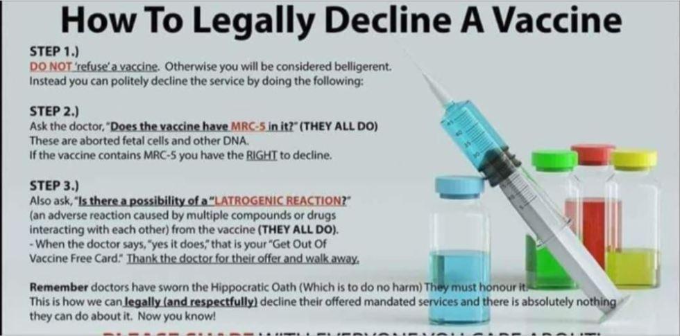 decline a vaccine