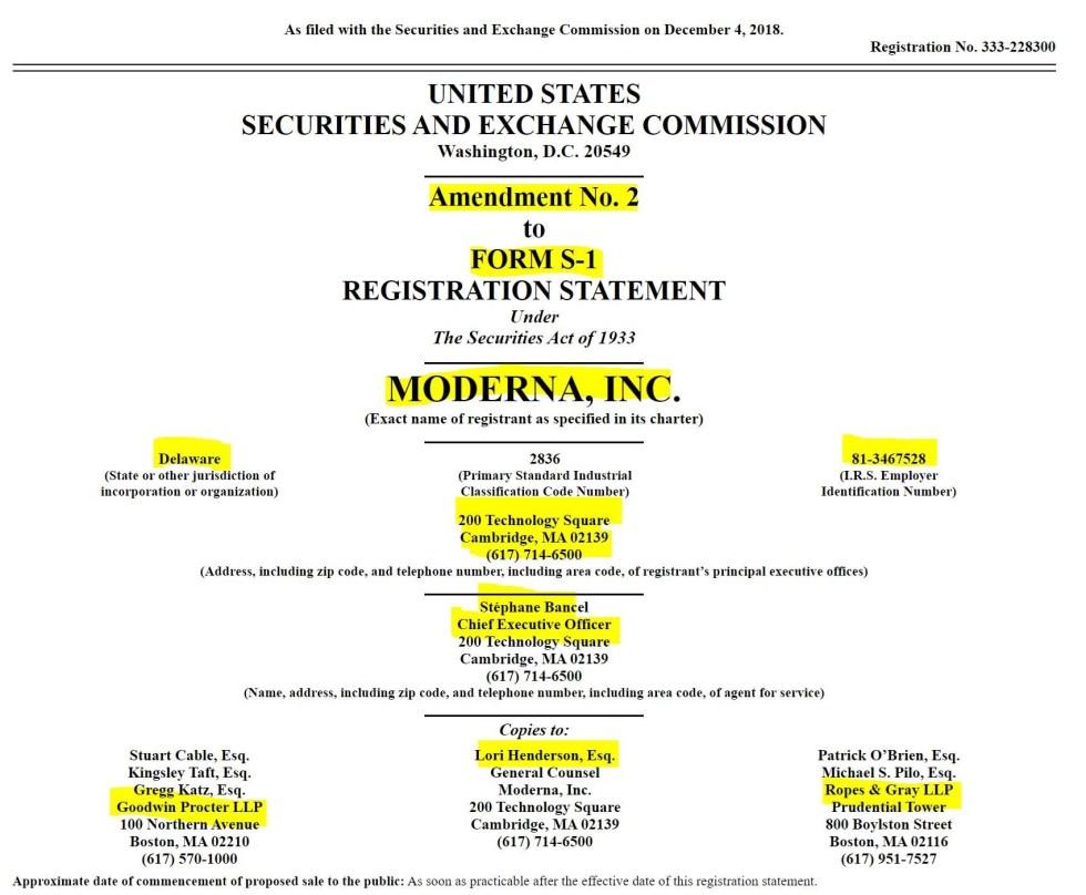 moderna registration