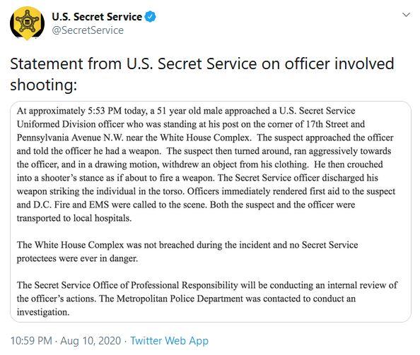 secret service tweet
