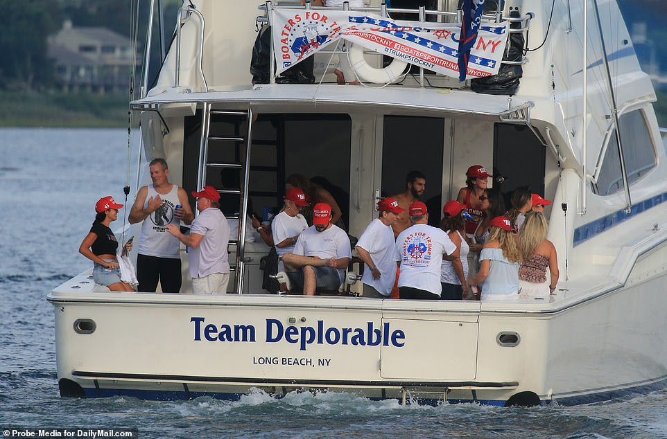 team deplorable trump boat