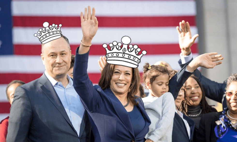 This image has an empty alt attribute; its file name is kamala-harris-crown.png