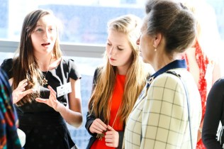 Ciara Judge and Emer Hickey, founders of Germinaid Innovations with HRH The Princess Royal