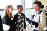 Joana Baptista and Tyriah Allison of Team Brush with HRH The Princess Royal