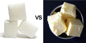 Sugar versus butter