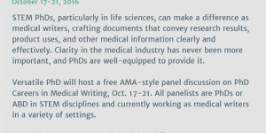 Versatile PhD: Careers in Medical Writing