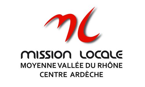 Logo et lien Mission Locale Moyenne Vallée du Rhône Centre Ardèche