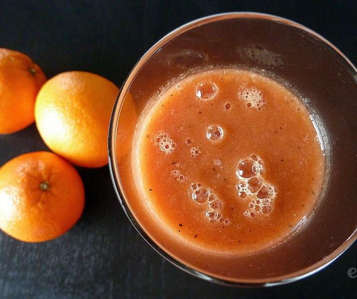 Smoothie orange, tamarillo, passion