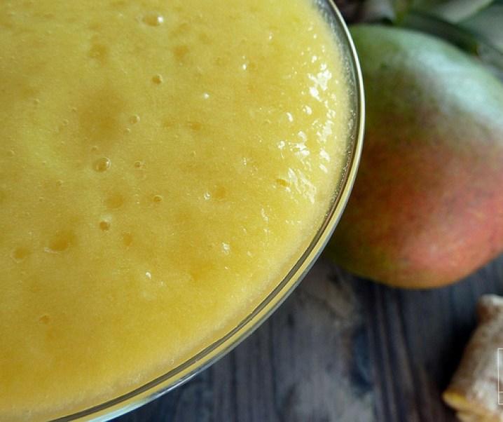 Smoothie mangue, ananas, gingembre, «le stimulant»