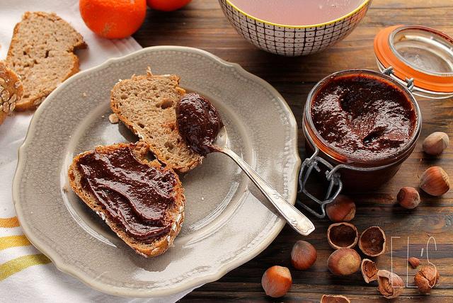 Pâte à tartiner chocolat-noisette {vegan}