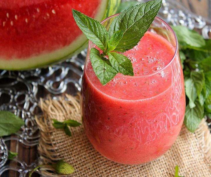"Aardbei smoothie, watermeloen en mint, ""De verfrissende"""