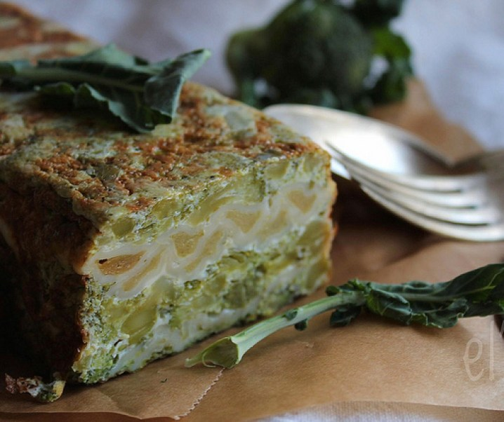 Ravioli met broccoli flan