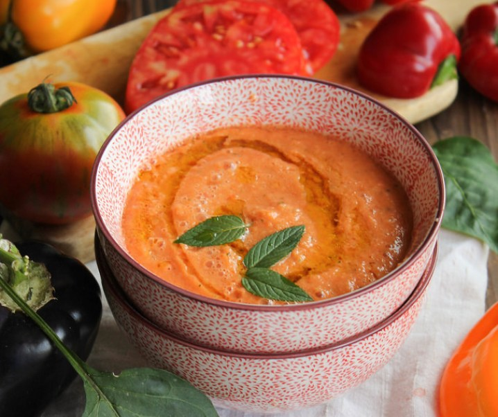 Gaspacho de melon à la menthe