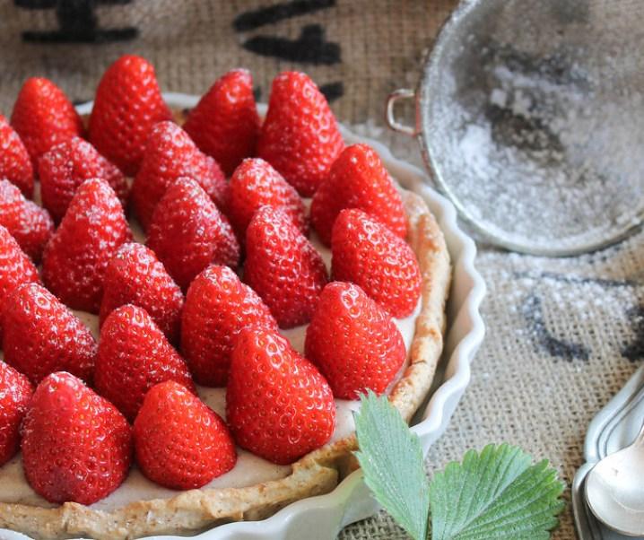 Tarte aux fraises {vegan}