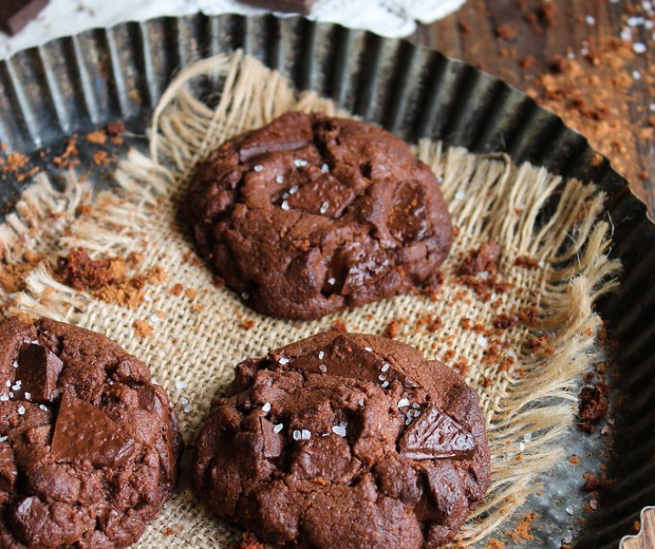 Double chocolate cookies {vegan}