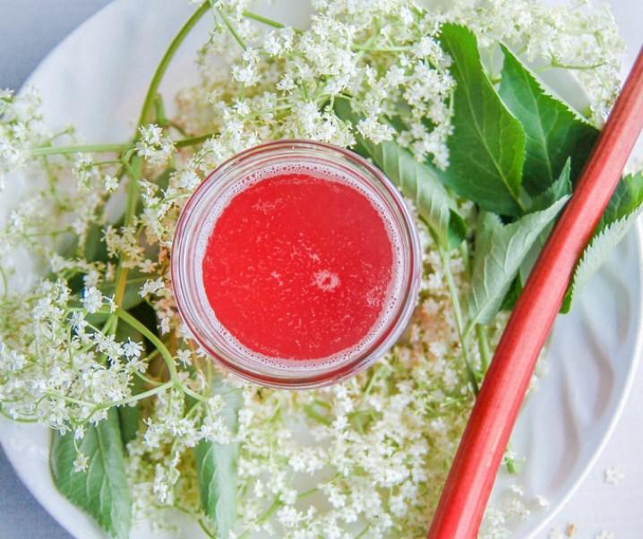 Sirop de sureau et rhubarbe