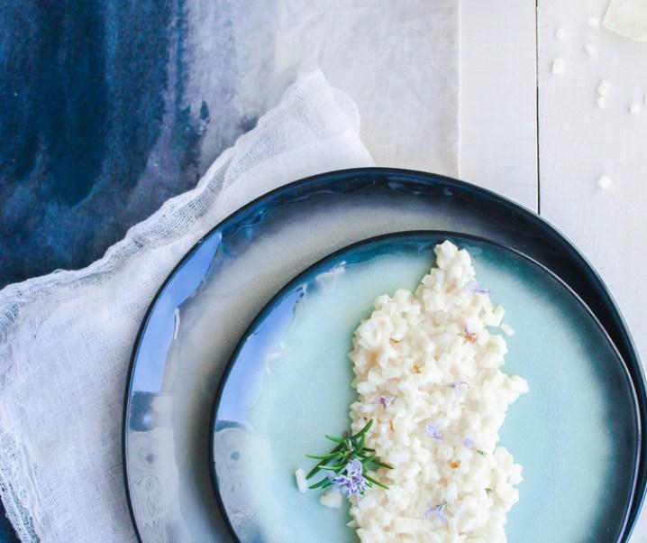 Célerisotto au Parmesan et romarin {sans gluten}