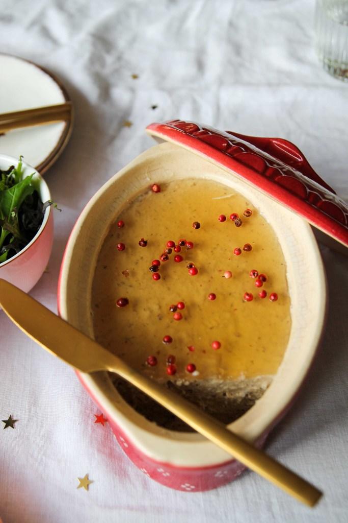 Mousse de foie gras végétal au Monbazillac {Vegan- glutenvrij}