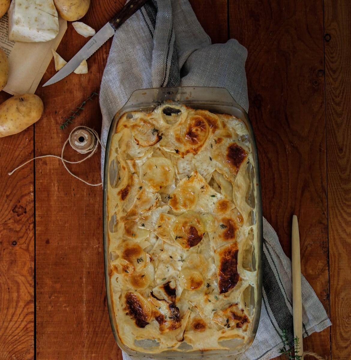 Gratin de pommes de terre et céleri {vegan- sans gluten}
