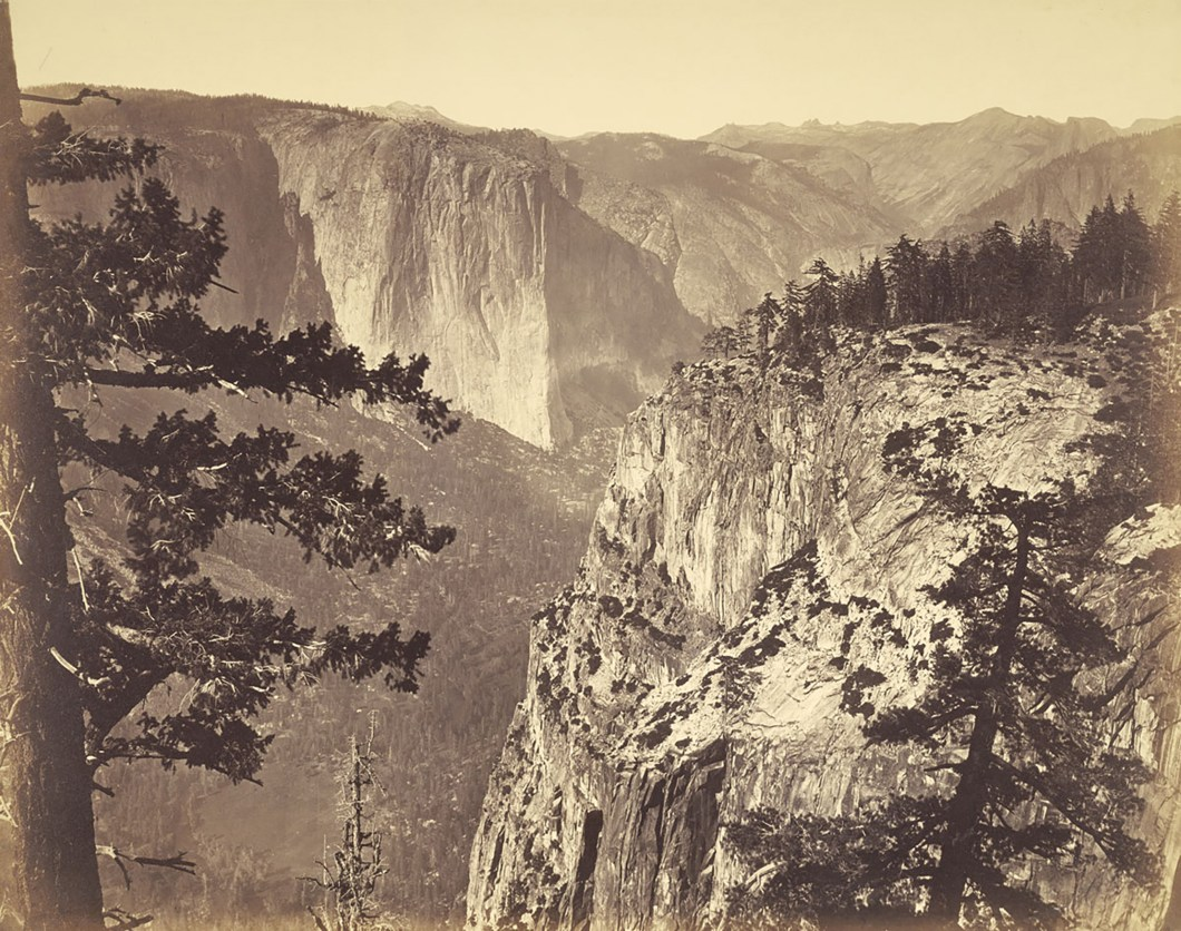 First View of the Valley from the Mariposa Trail, Yosemite, 1865-66, Getty Art Museum
