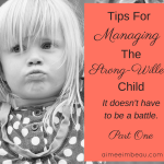 Tips for Managing the Strong-Willed Child
