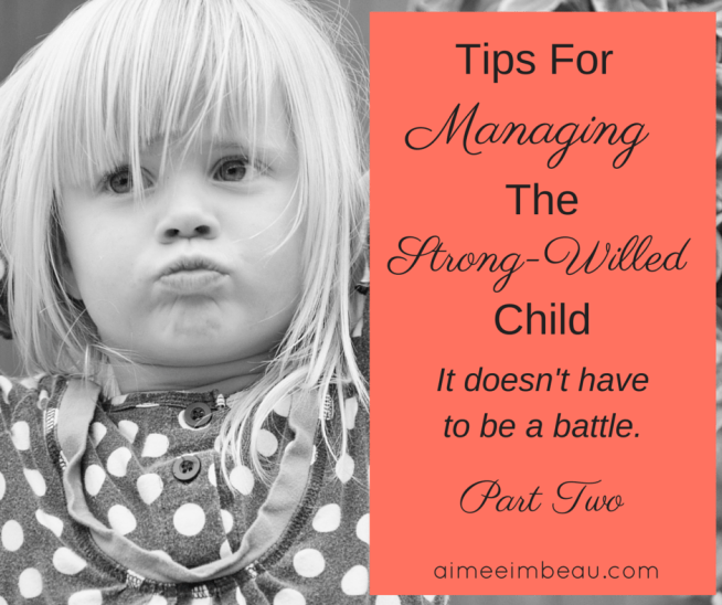 Do you have a strong-willed child that drives you crazy? I have two of them! Here is part 2 on some tips that helped me out. Christian parenting, Christian motherhood.