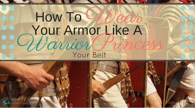 Do you wonder about the Belt of Truth in God's armor? What does it mean? Why is it important? What is it's purpose? I shed some light in this vital piece of armor in my post How To Wear Your Armor Like A Warrior Princess- Your Belt.