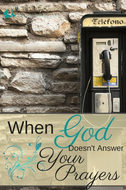 Have you ever felt like God doesn't answer your prayers? Do you think that if you had just a bit more faith, He would have answered? Or if you spent a few more minutes in prayer, He would have heard? I have some truth to share for when God doesn't answer your prayers.