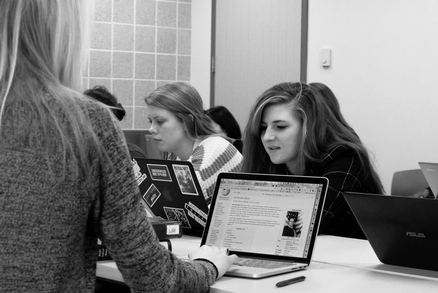 Our faculty and students Write Woman Back into History Wikipedia Edit-a-Thon.